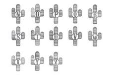 Cactus Monogram N-Z Wall Art
