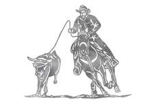 Calf Roping Stock Art