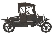 Antique Ford Car DXF File