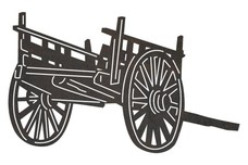Old Style Cart DXF File
