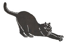 Stretching Cat DXF File