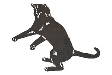 Jumping Cat DXF File