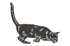 Crouching Cat DXF File