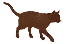 Walking Cat Silhouette DXF File