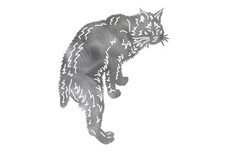 Back-Arched Cat DXF File