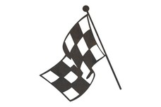 Fluttering Checkered Racing Flag DXF File