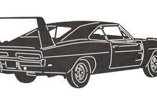 Vintage Dodge Charger DXF File