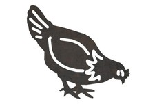 Foraging Chicken DXF File
