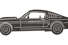 Classic Mustang Side View DXF File