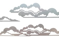 Several Fluffy Clouds DXF File