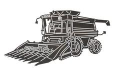 Combine Harvester DXF File