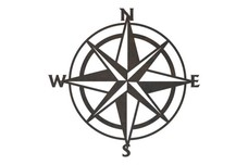 Compass Rose DXF File