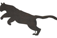 Leaping Cougar DXF File