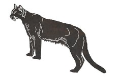 Standing Cougar DXF File