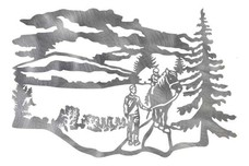 Country Scene with Mountains DXF File