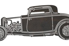 Coupe Hot Rod Sign