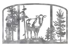 Cow Fireplace Screen