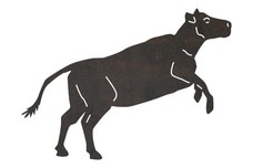 Leaping Cow DXF File