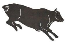 Running Cow DXF File