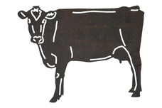 Looking Cow DXF File