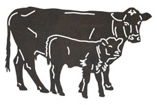 Cow and Calf DXF File