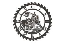 Cowboy Sawblade Clock