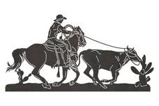 Horseback Riding Cowboy DXF File
