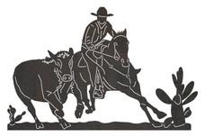 Chasing Cowboy DXF File