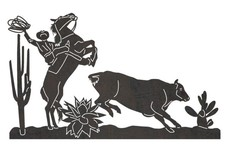 Cow Catching Cowboy DXF File