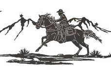 Riding Cowboy DXF File