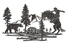 Cowboy VS Bear DXF File