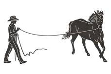 Cowboy Horse Training  DXF File