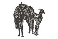 Scaling Cowboy DXF File