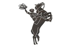 Cowboy Holding Lariat DXF File