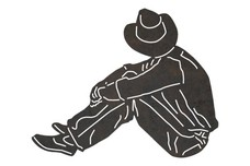 Cowboy Looking Away DXF File