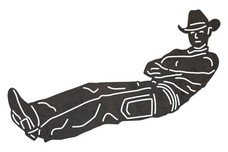 Cowboy Laying Down DXF File