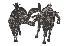 Moving Cowboy DXF File