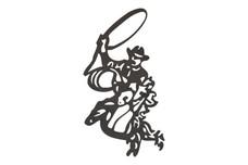 Cowboy W/Lasso DXF File