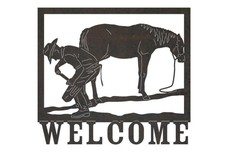 Cowboy Trail Welcome Sign