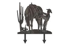 Cowboy Yard Stake