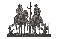 Two Cowboys Talking DXF File