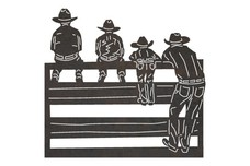 Cowboys on Fence DXF File