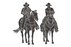 Two Cowboys DXF File