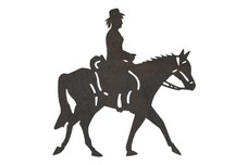Mounted Cowgirl DXF File