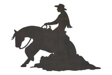 Cowgirl Riding DXF File