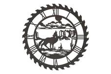 Coyote Sawblade Clock