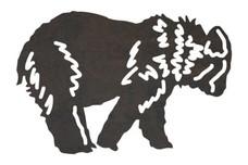 Walking Bear Cub DXF File
