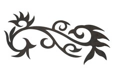 Floral Curls DXF File