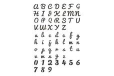 Cursive Font Stock Art