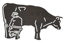 Dairy Farmer Milking Cow DXF File